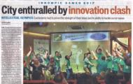 1st Innompic Games, newspaper artcile, Hindustan Times, India