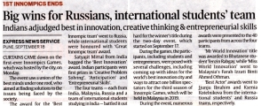 1st Innompic Games: Big wins for Russians, International stidents' team, Indian Express newspaper article
