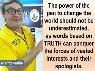 Martti Vallila message to the World the power of the pen Innompic Games 2018 jury
