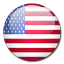 USA flag rounded