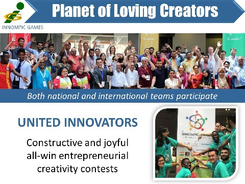 UNITED INNOVATORS Innompic Games vision Planet of Loving Creators