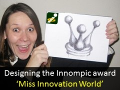 Miss Innovation World, award design, Ksenia Kotelnikova, Vadim Kotelnikov, Innompic Games