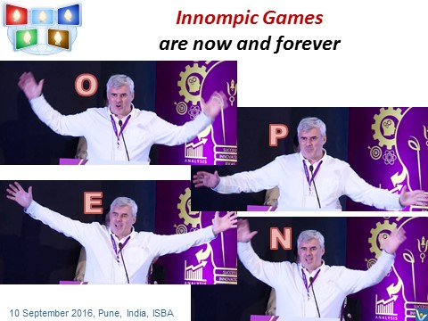 Vadim Kotelnikov - Innompic Games are OPEN, Innompic launch ceremony, India, ISBA 2016