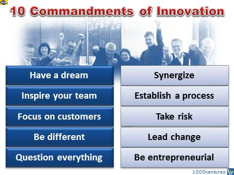 Innovation: 10 Commandments
