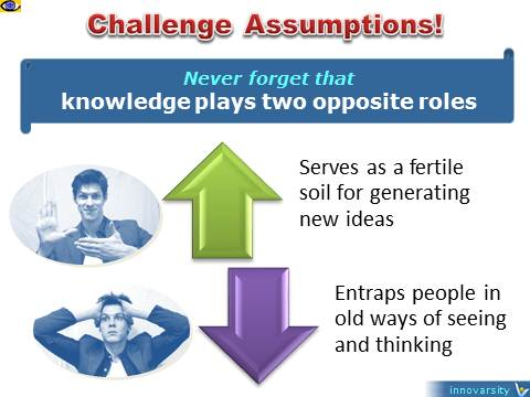 Message to the world on knowledge, fertile soil, trap, challenge assumptions, Vadim Kotelnikov quotes