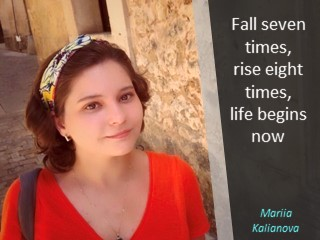 "Masha Kalyanova Maria, Маша Кальянова, ""Fall seven times, rise eight times, life begins now. 1st Innompic Games"