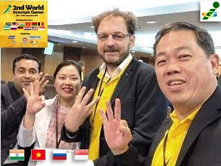 World 2nd Innompic Games 2018 Malaysia International Jury India Vietnam Russia Singapore crsoo-cultural unity
