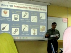 Innompic Training, Malaysia, Othman Ismail, Kore 10 Innovative Thinking Tools