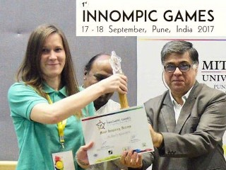 MOST BRILLIANT IDEAS award, Ksenia Kotelnikova, Russia, 1st Innompic Games 2017