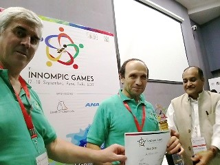 Best Innovation Judge, Michael Zelin, 1st Innompic Games, Vadim Kotelnikov, Rajendra Jagdale