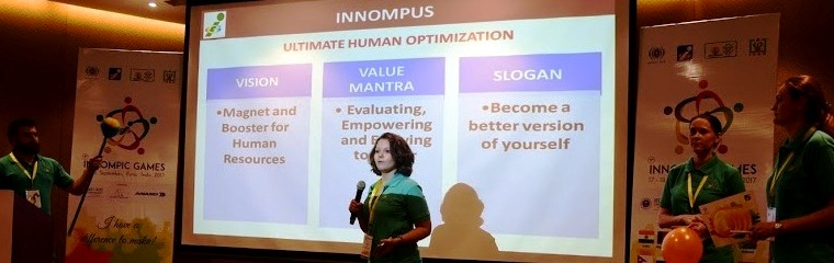 INNOMPUS World's Best Innovation City presentation, Russia team, 1st Innompic Games, Masha Kalyanova
