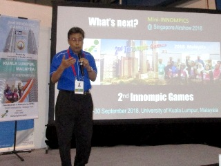Othman Ismail is presenting 2nd Innompic Games 2018, Malaysia, at Singapore Airshow WHat's Next? WNSA