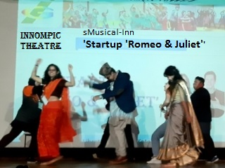 Innompic Theatre sMusical-Inn Startup Romeo & Juliet Nepali actors KUSOM MBA students