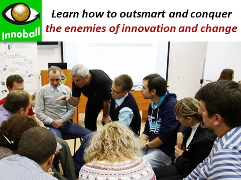 Innoball brainstorming session outsmart competitorsm conquer enemies