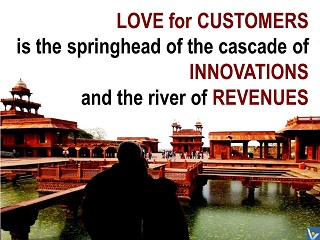 Love for Customers innovation quotes, Vadim Kotelnikov, photogram