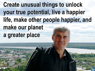 Vadim Kotelnikov, Founder of Innompic Games quote Create unusual things, make our planet a better place