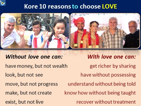 Love benefits, love message to the World, why to choose love, Vadim Kotelnikov