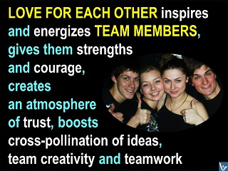 Loving Team, passionate team, love for each other, best teamwork, Innompic messages to the World, Vadim Kotelnikov