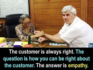 Customer is always right quotes empathy how to be right about customer Vadim Kotelnikov