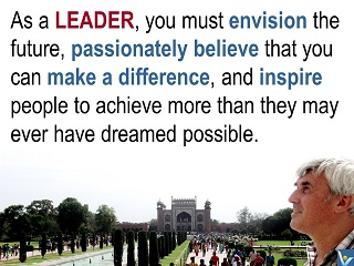 Leadership vision quotes, make a difference, Vadim Kotelnikov photogram, Innompic messages to the World