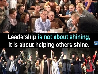 Leader as Servant, helping others shine, Vadim Kotelnikov Dennis, photogram