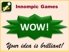 WOW idea assessment card, best innovator award, Innompic Games, Innompics Creation Show
